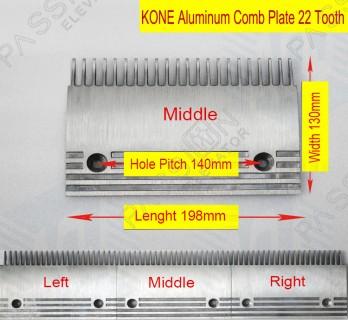 5130669D10 KONE Escalator Aluminum Comb Plate 22 Teeth - Passion